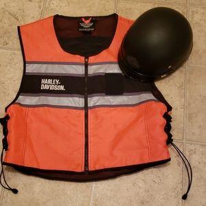 Harley Davidson Hi- Vest and Half Helmet
